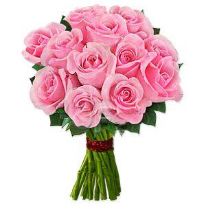 Send One Dozen Pink Roses To Usa