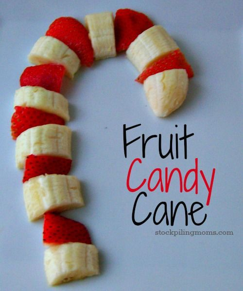 Fruit Candy Cane is the perfect and healthy Christmas morning breakfast!