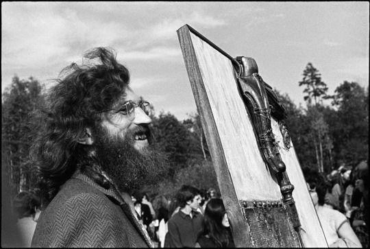 Evgeny Rukhin, Untitled, mixed media on canvas, 1974