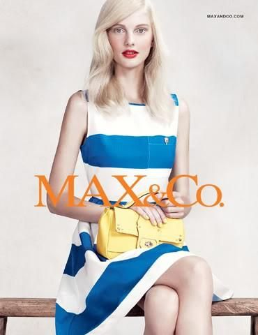 Max & Co S/S 12 (MAX&Co.)   Willy Vanderperre - Photographer Clare Richardson - Fashion Editor/Stylist Lucia Pica - Makeup Artist Patricia van der Vliet - Model