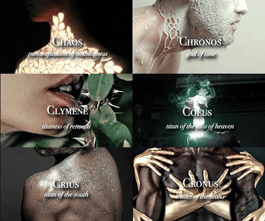 """ ""Greek Gods, Titans and Primordial Deities "" """