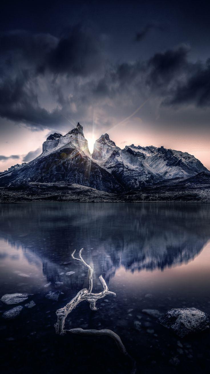 #Nature #mountain #lake #sunlight #wallpapers hd 4k ...