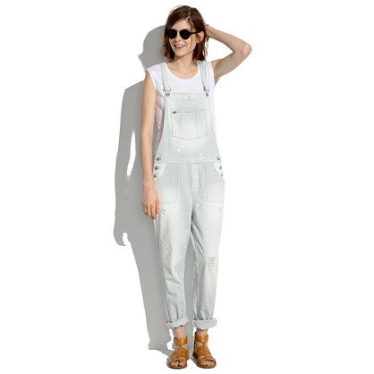 Park Overalls in Fade Stripe - one-piece - Women's DENIM - Madewell