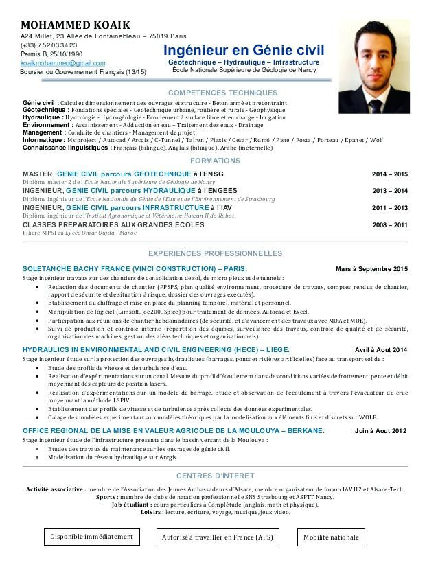 14+ curriculum vitae exemple francais CV étudiant