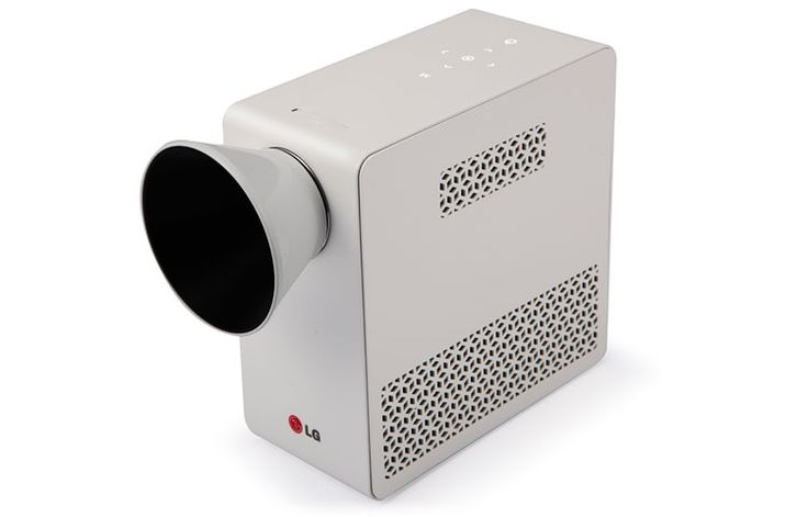 LG - Portable LED Projector with Built-in Digital TV Tuner