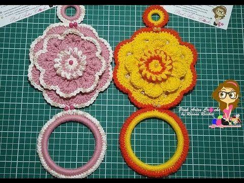 Passo a Passo  Porta Pano de Prato cheio de Charme - Pink Artes Croche b...