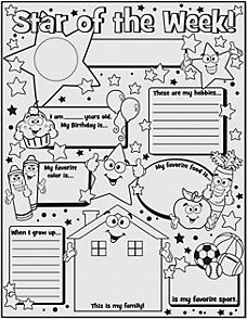 Star of the week poster organisation pinterest for Star of the week poster template
