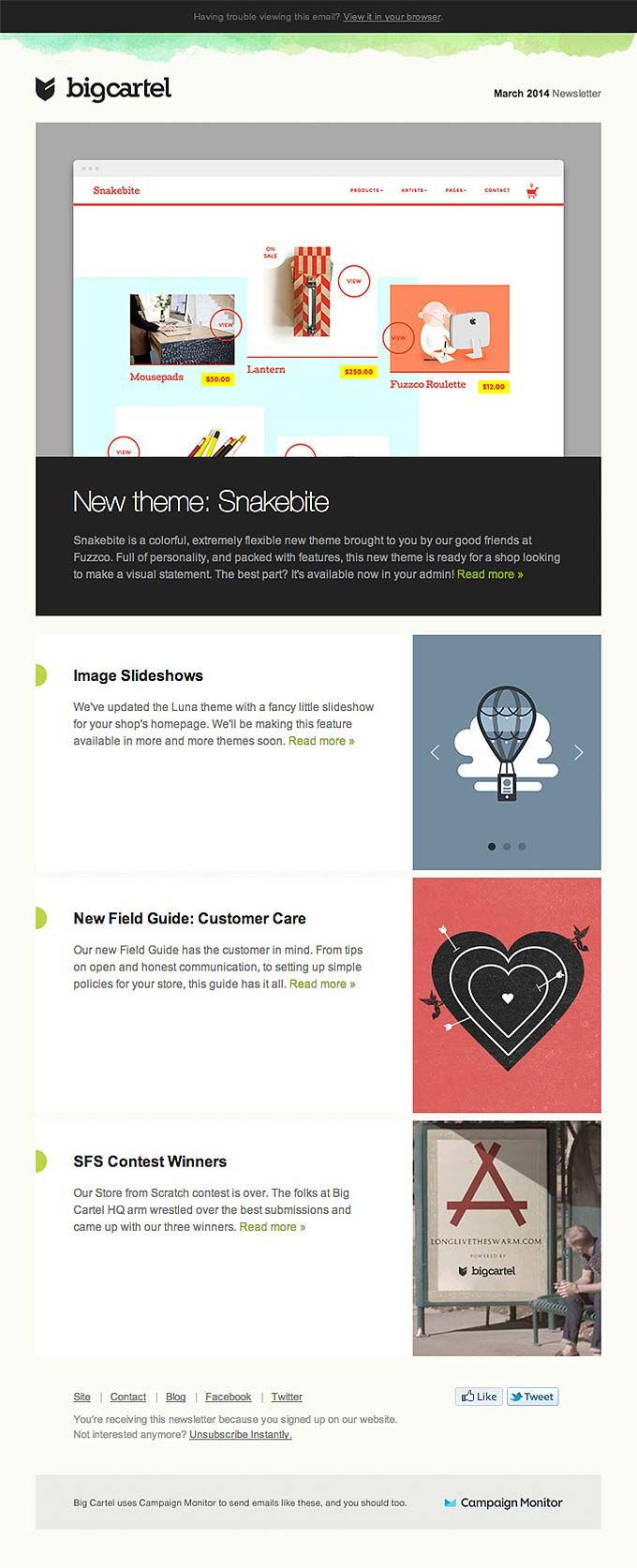 21 best emails images on pinterest email design email newsletter email design from bigcartel really good emails pronofoot35fo Images