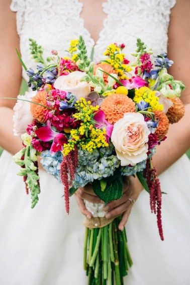 Colorful bouquet | Traci & Troy