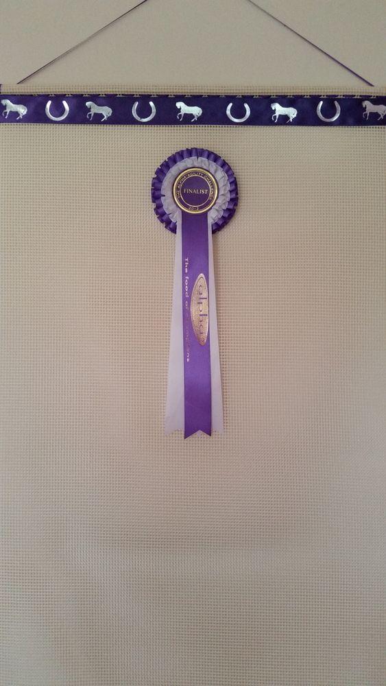 Ideas for your Horse show Rosettes.   Horse rosette holder