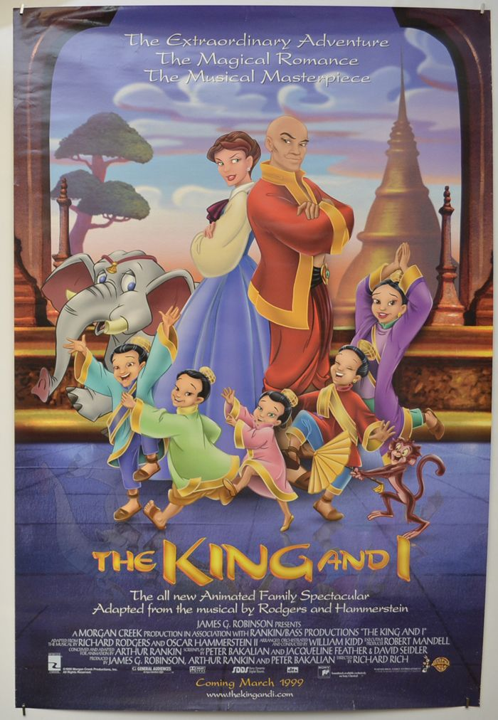 King And I The Original Cinema Movie Poster From Pastposters Com British Quad Posters An Animated Movie Posters Disney Movie Posters Disney Animated Movies