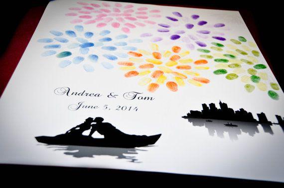 Thumbprint Fingerprint Fireworks Wedding Guest by SpecialPrints, $30.00