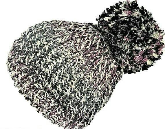 Giant pom pom hat, pom pom beanie, teen girl beanie, pom poms, eco beanie, chunky knit beanie, christmas gifts, pom pom hats, teen fashion #pompombeanie #sustainablefashion #recycledwool