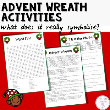 Teach your students the true meaning of Christmas by learning about the important symbols within the advent wreath.  The advent wreath represents the importance of the 4 weeks leading up to Christmas and how this represents the promise of Christ's coming.