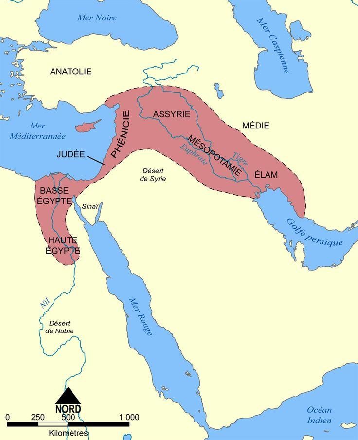 Croissant fertile carte - Mésopotamie — Wikipédia