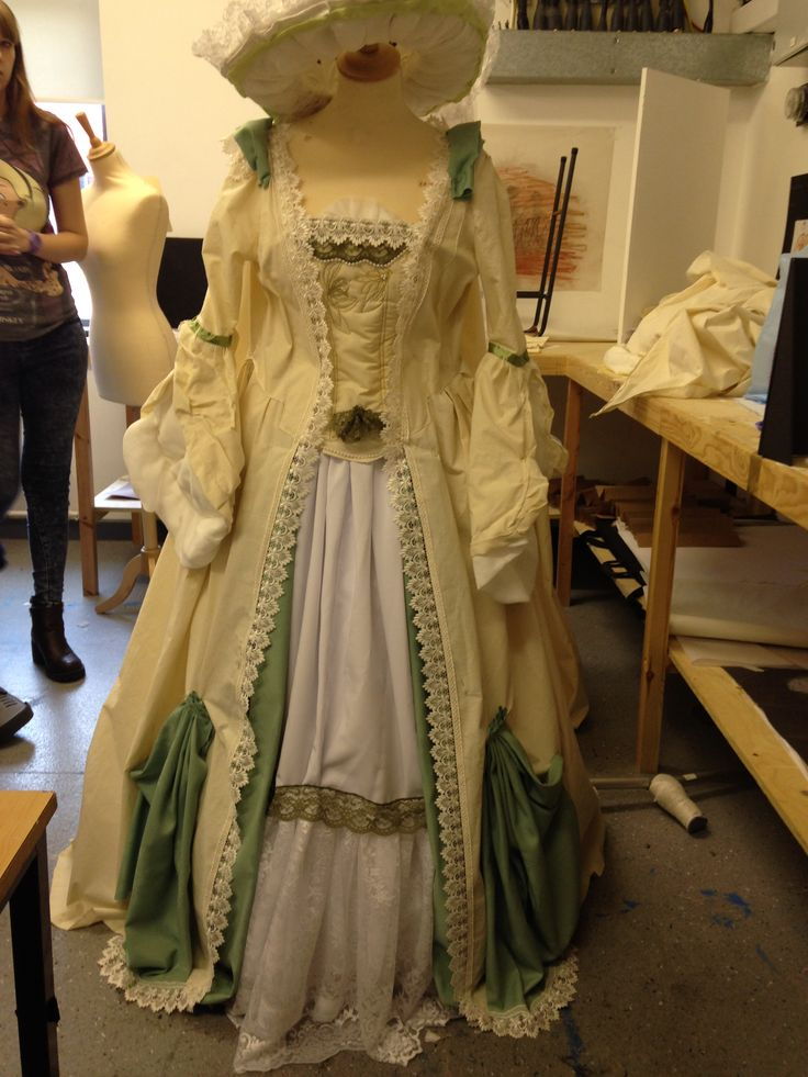 1775 dress , costume for uni project, made by me, sam and reece
