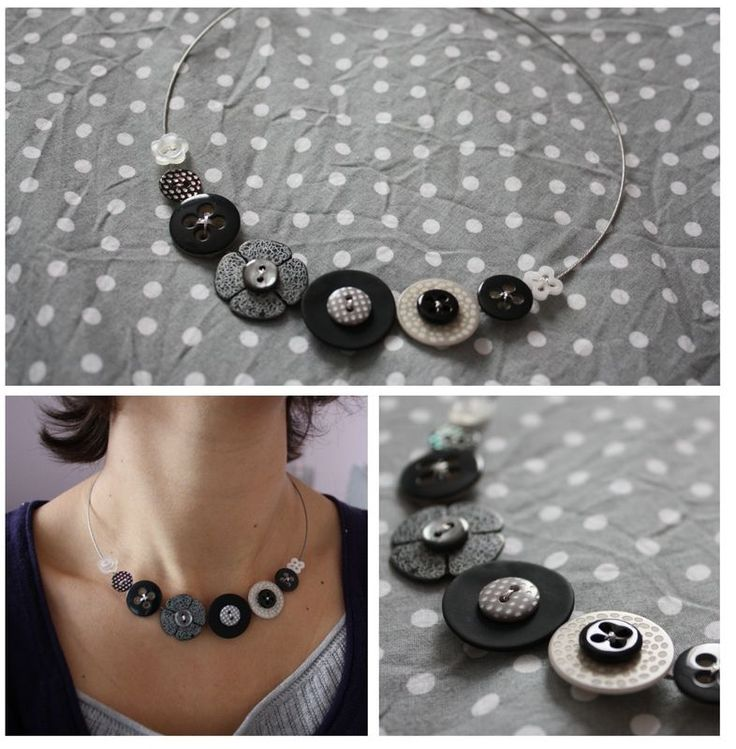 1, 2, 3, ... Collier boutons stock perso... Compter les boutons pour s'endormir?Non!Compter les boutons pour s'embellir ;-)