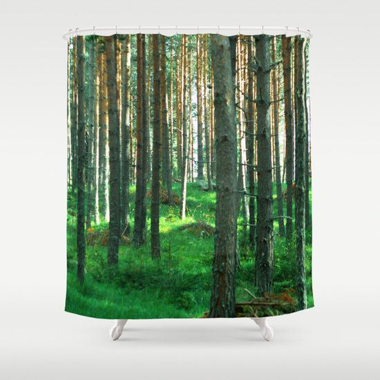 Bathroom Shower Curtain Red