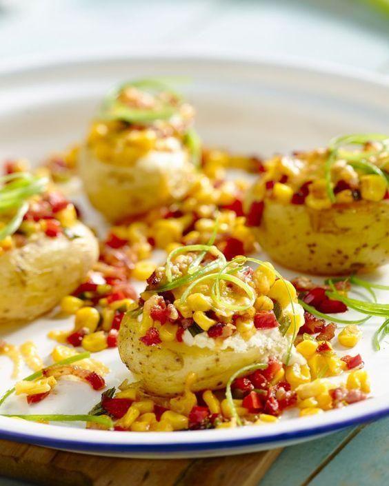 Aardappelen met krokante bacon en  provençaalse boter kruidenmix