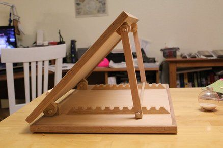 Drafting table, table top version. could make a good workbench carving station...