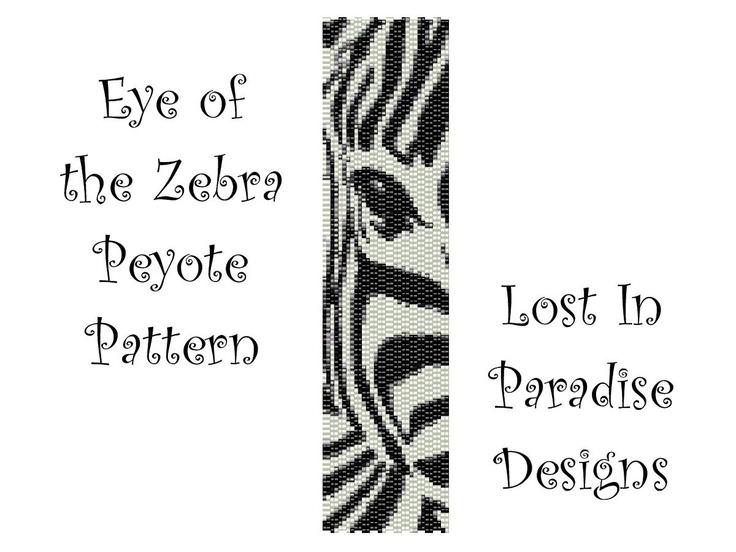 Peyote Bracelet Pattern - Eye of the Zebra Peyote Stitch Pattern (Buy 2 get one Free). $6.50, via Etsy.