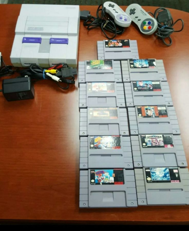 Super Nintendo Console, 2 controllers, 11 Game Bundle Nostalgia huge SNES Lot #Nintendo