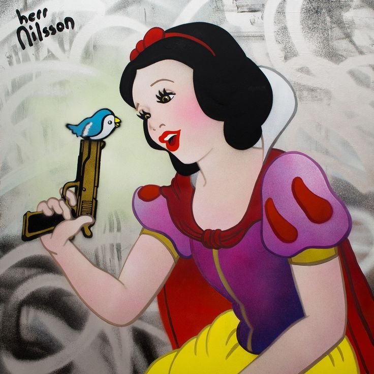 This is another version of A Smile and a Song by Herr Nilsson on view at Mead Carney Porto Montenegro.  #meadcarney #herrnilsson #portomontenegro #montenegro #streetart #streetarteverywhere #art #artist #artwork #snowwhite #disney #pink #bird #princess #contemporaryart #contemporaryartist #fineart #gallery #artgallery #collection #collector