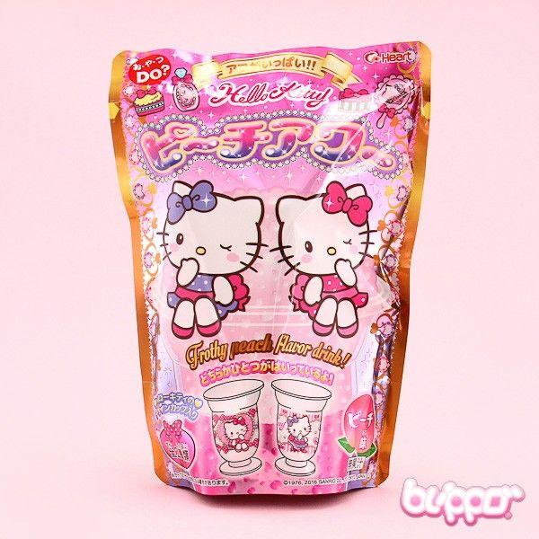 Heart Hello Kitty DIY Frothy Drink - Peach