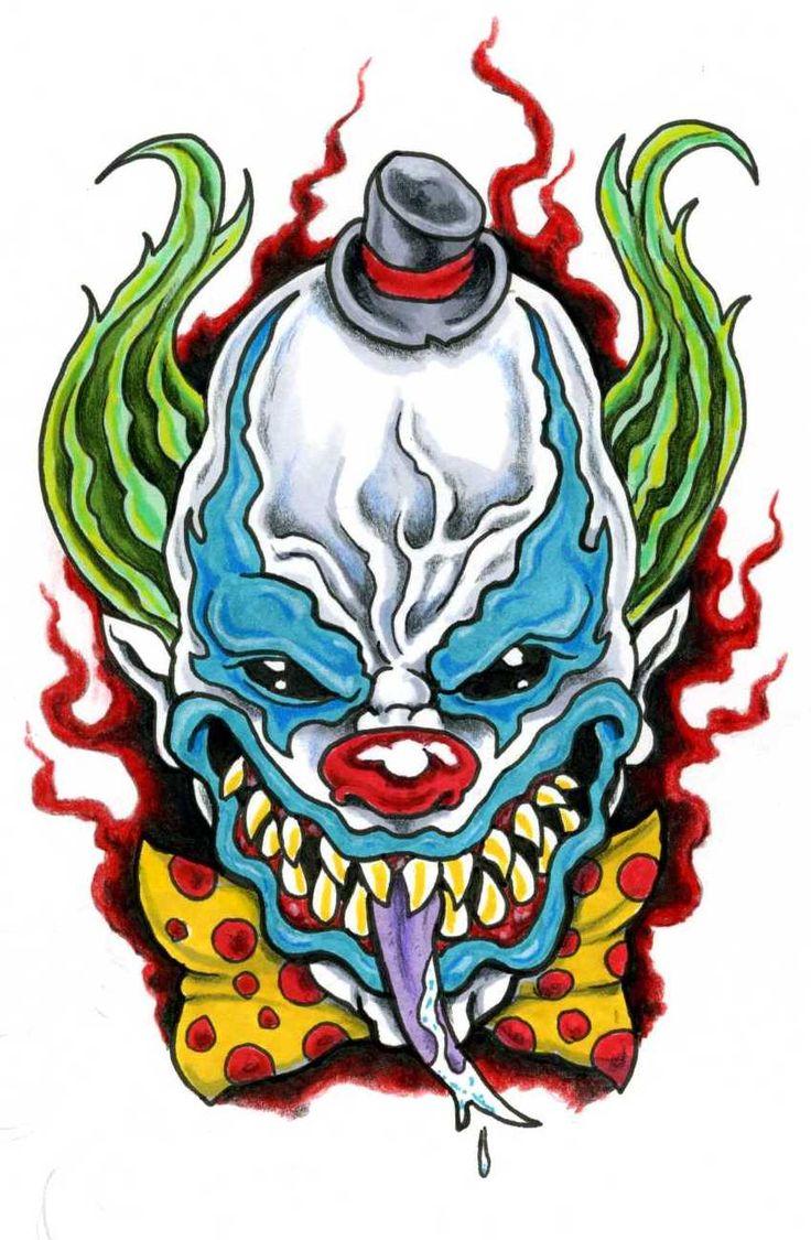 102 best clown images on pinterest evil clowns clown tattoo and