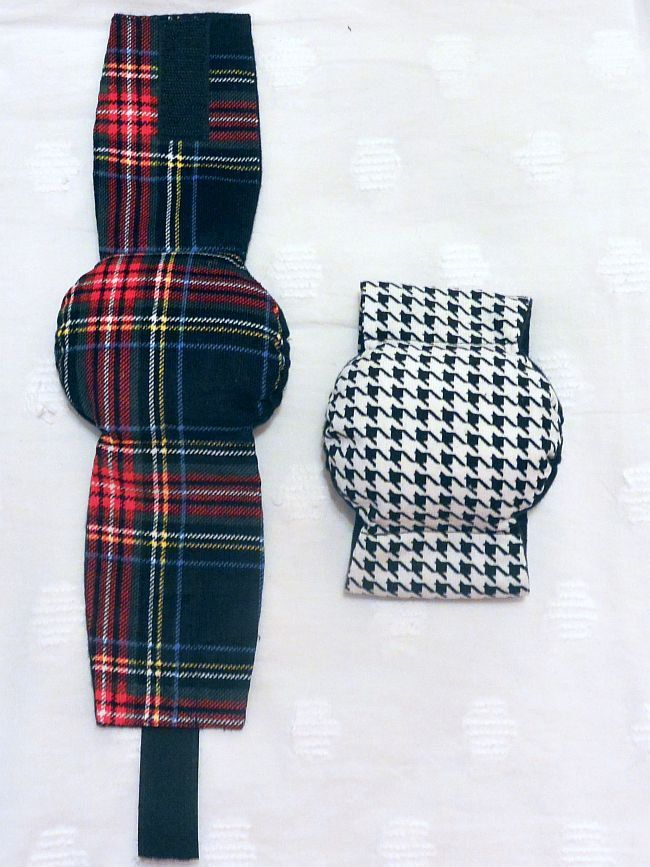 Male Dog Belly Band Diapers stop Marking many sizes set of 2 Houndstooth and Red Black Plaid by piddleronthewoof on Etsy