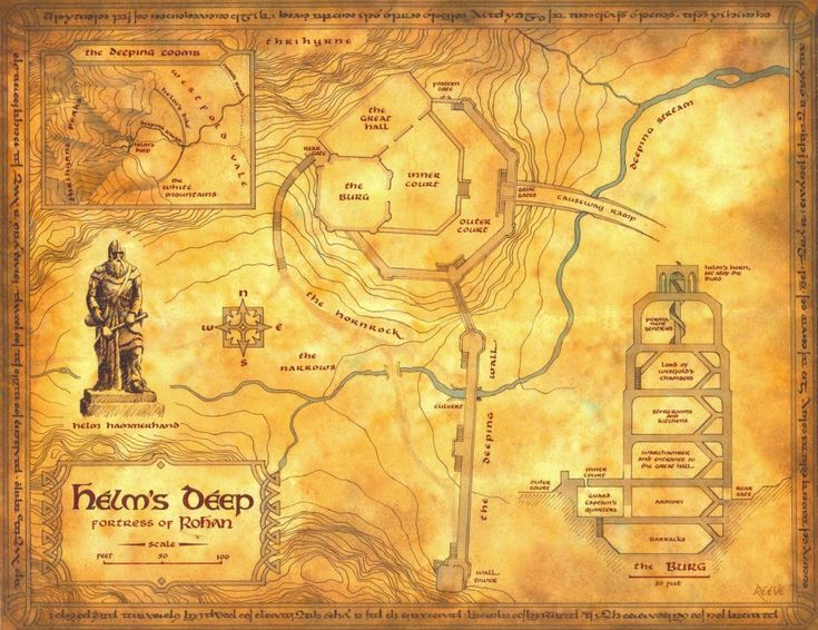Map of Helm's Deep -- This makes so much more sense now!