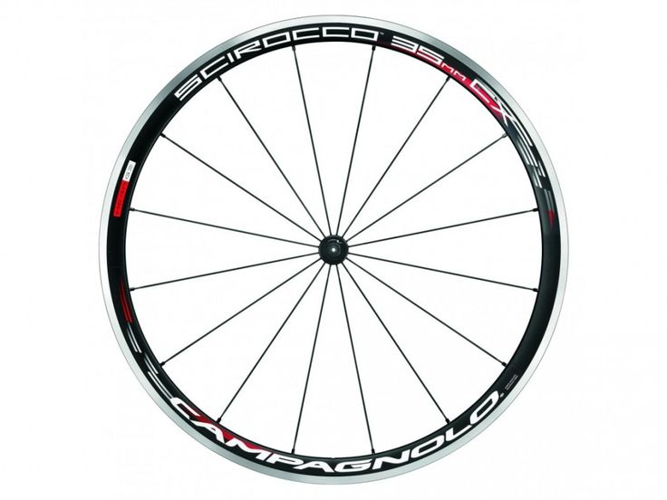 CAMPAGNOLO Roue avant SCIROCCO black pneus. Un nouveau profil de 35mm de hauteur qui rend la nouvelle Scirocco tout à fait unique.