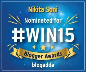 """I am so happy to share with you that both the Njkinny blogs have been nominated for #Win15 Blogger Awards...Show your love to my blogs by rating them. Drop by the blogs, Give stars to them by clicking under """"Love my Blog? Then Rate it!"""" title on the sidebars on the blogs. Thanks! :) Njkinny's World of Books & Stuff: http://www.njkinnysblog.com/ Njkinny Tours & Promotions: http://njkinnytoursandpromotions.blogspot.in/"""