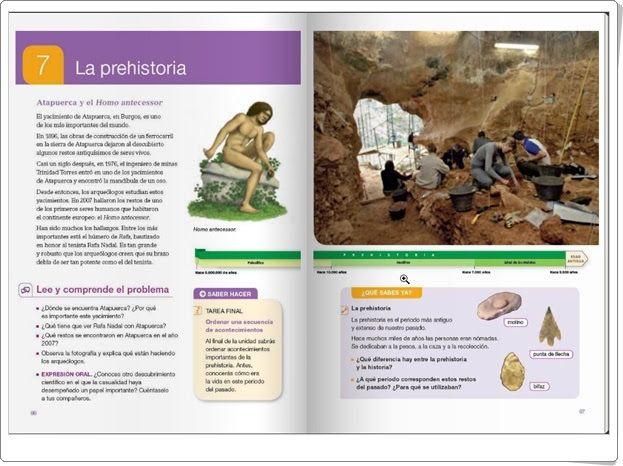 """Unidad 7 de Ciencias Sociales de 4º de Primaria: """"La prehistoria"""""""