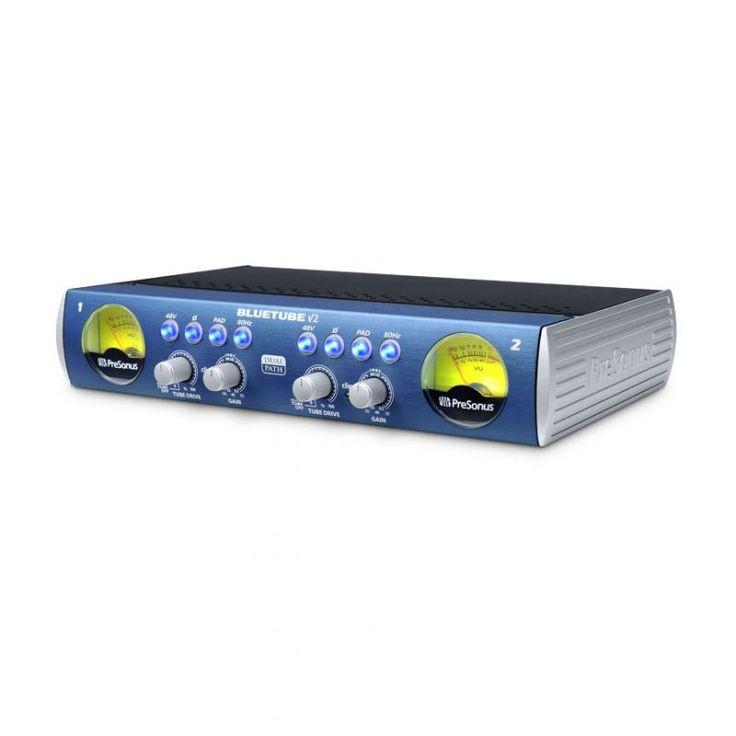 BLUETUBE DP V2 PRESONUS Preamplificador de tubos Blue Tube DP V2 de dos canales Microfono/Instrumento. Preamplificador de microfono de alto Headroom clase A XMAX con 80 dB de ganacia