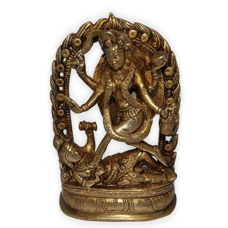 Goddess Kali in Ring, Brass Statue from India: Amazon.co.uk: Kitchen & Home