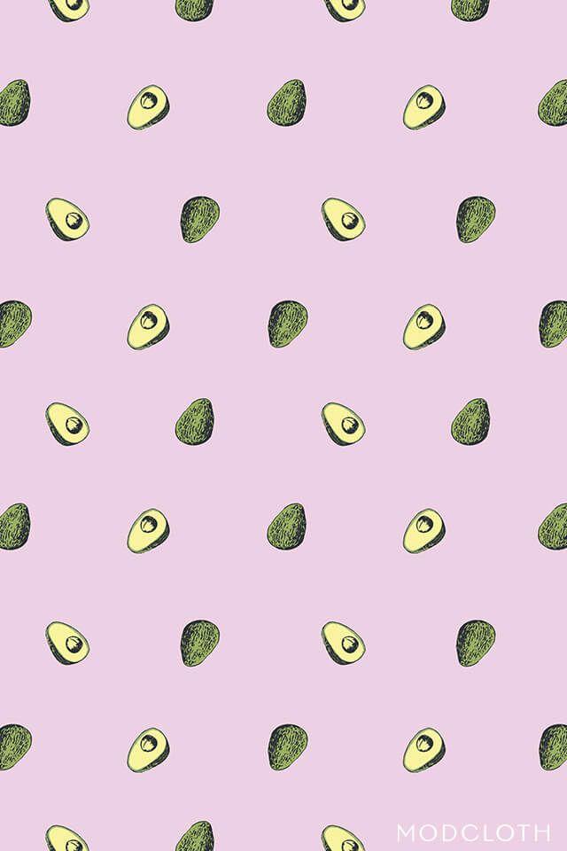 обои на телефон с принтом авокадо печенья форме