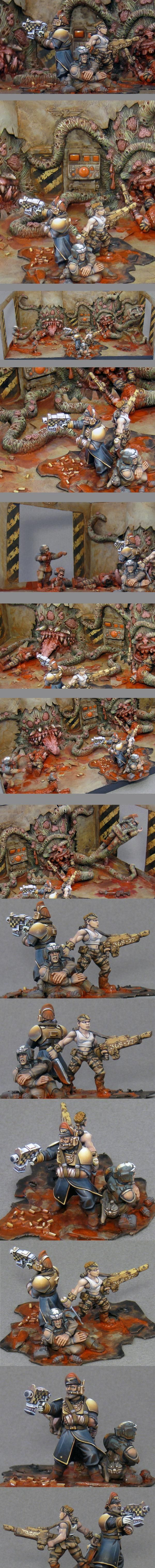 Blood, Catachan, Chaos, Commissar, Conscript, Daemons, Diorama, Imperial Guard, Last Stand, Massacre, Nurgle, Possessed, Slaughter, Steadfast, Tentacles, Zombie