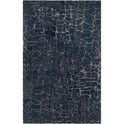 Hand-tufted Blue Papillion New Zealand Wool Rug (3'3 x 5'3) | Overstock.com $234: Surya Bansh, Living Rooms, Sapphire Blue, Area Rugs, Blue Rugs, Hands Tufted, Bansh Ban3306, Wool Rugs, Bansh Collection