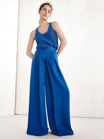 Los pantalones de mujer más elegantes del avance de otoño 2017 en Massimo Dutti. Pantalones palazzo, de vestir, chinos o de pinzas para mujeres con clase.