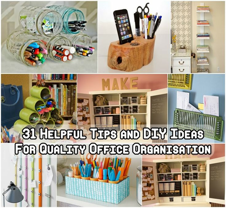 31 Helpful Tips and DIY Ideas For Quality Office Organisation Daily update on my site: ediy3.com