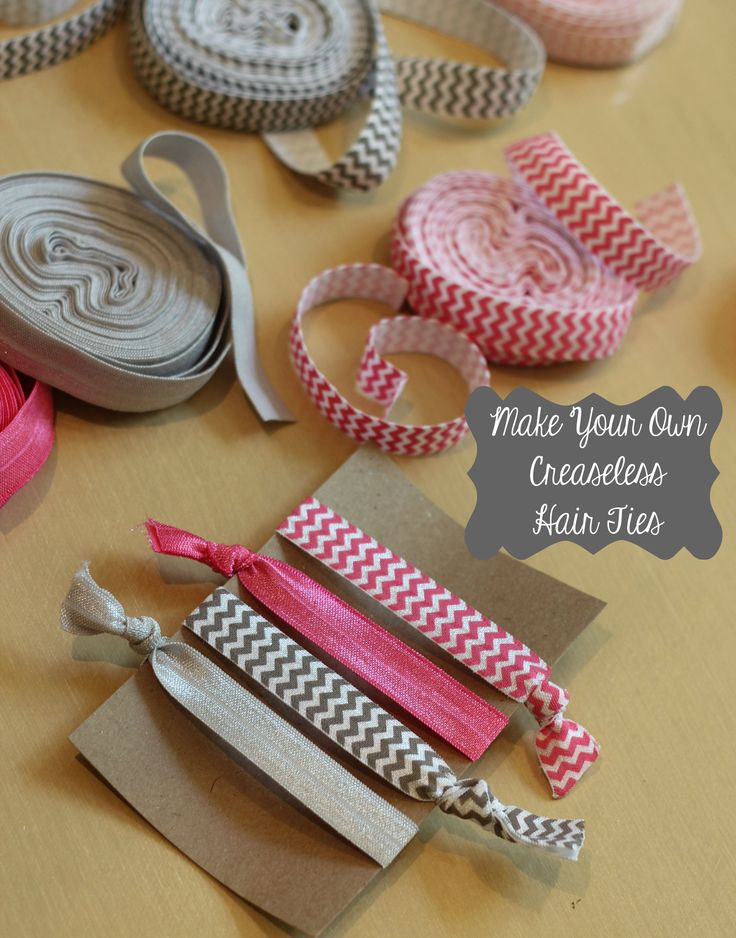 creaseless hair ties, has a link to buy the elastic cheap