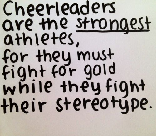 Cheerleading Quotes - We are not sluts, barbies, or preps. Welcome to All Star Cheer