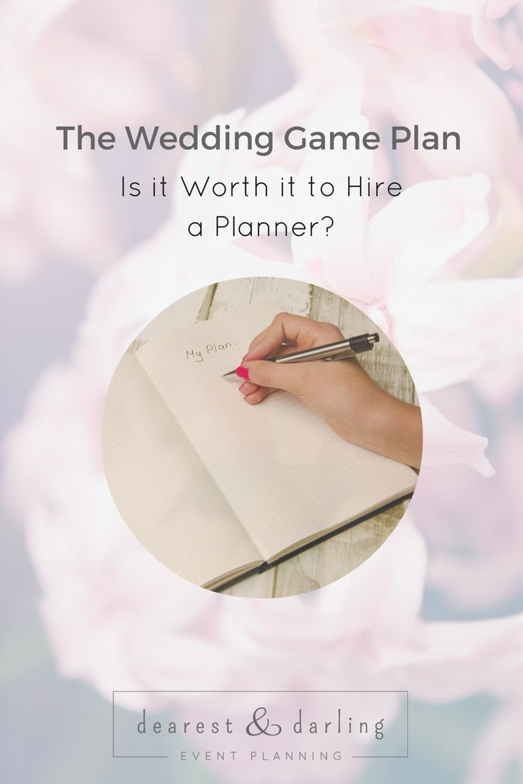 "THE WEDDING GAME PLAN - IS IT WORTH IT TO HIRE A PLANNER? There are numerous reasons why enlisting professional help is key in creating a seamless process and flawless day. But is having a wedding planner ""must have"" for everyone? Not necessarily. Click to read more or pin to read later! www.dearestanddarling.com"