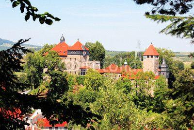 Castle Schloss Elgersburg in Thuringia Germany.