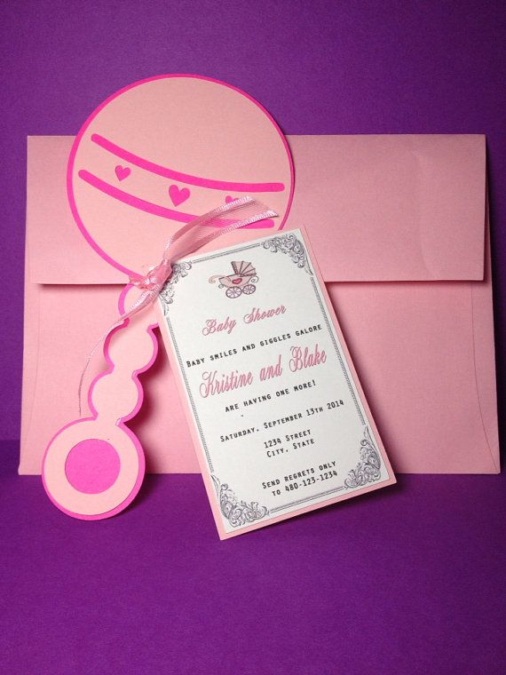 202 best images about 3d invitations on pinterest | diy, Baby shower invitations