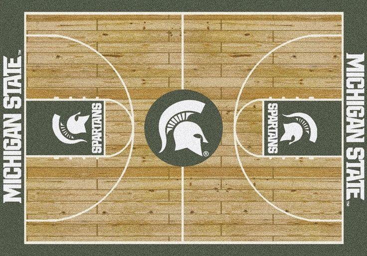 Michigan State Rug University Basketball Court