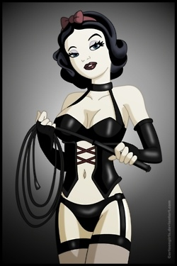 Dominatrix Snow White...Disney wouldn't have approved. GOOD! I really want this one day.