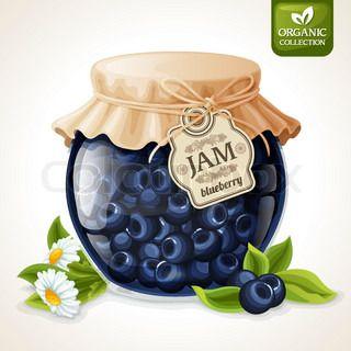 Blueberry jam glass