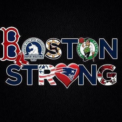 Boston Strong! We Stick together, we stay strong together. We always stay by one another sides.